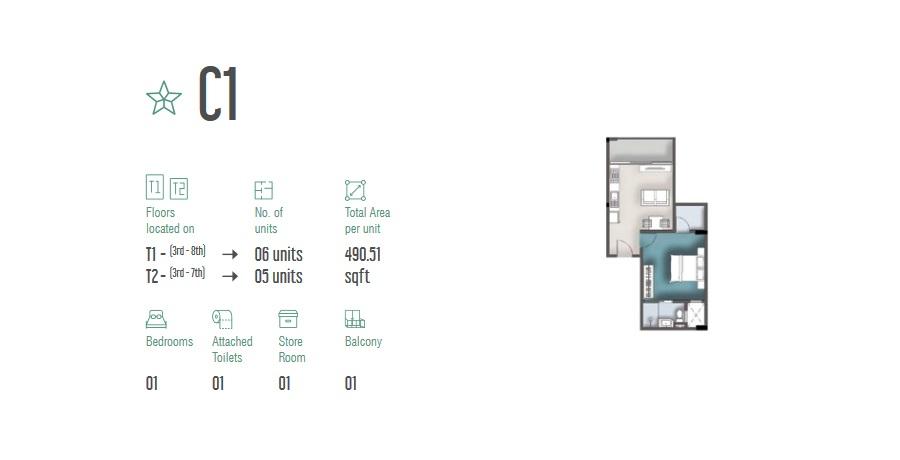 1 Room Apartment C1