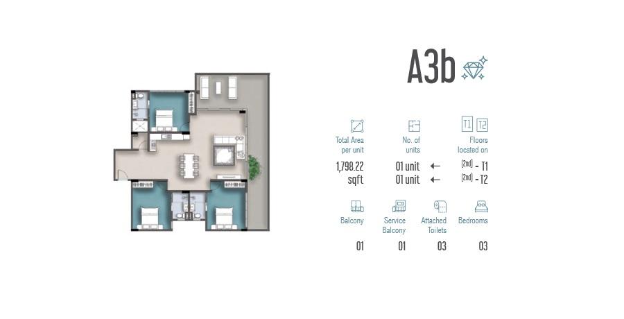 3 Room Apartment A3b