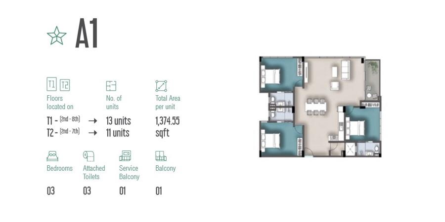 3 Room Apartment A1