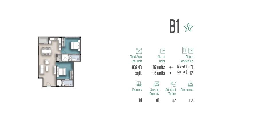2 Room Apartment B1