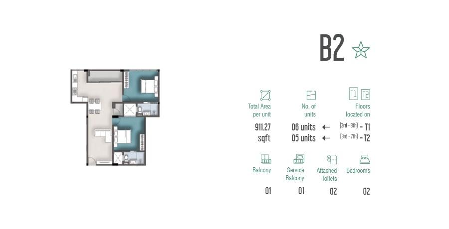 2 Room Apartment B2