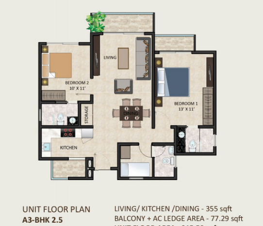 A3-BHK 2.5