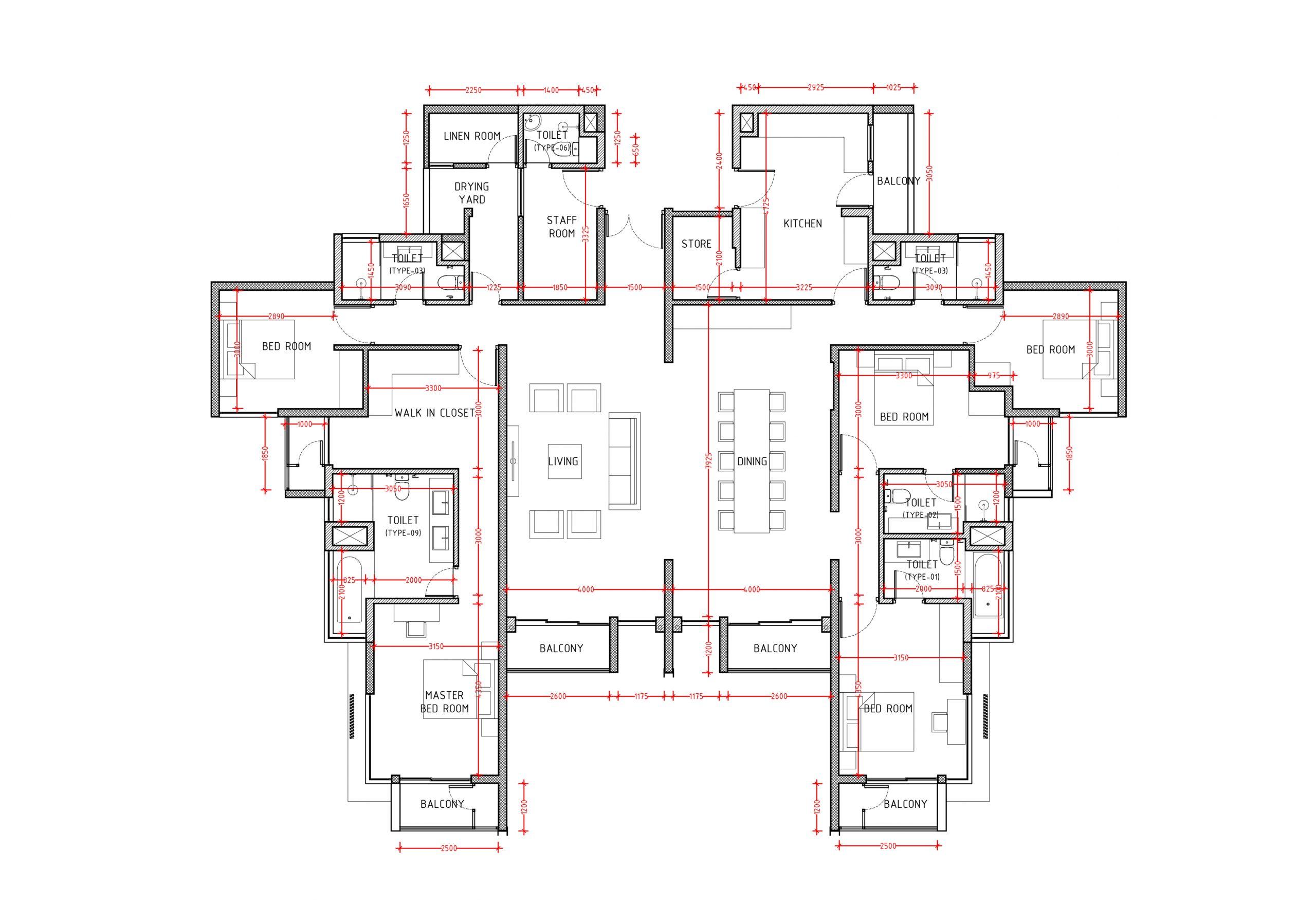 Floor Plan - Penthouse - 5 Bedroom