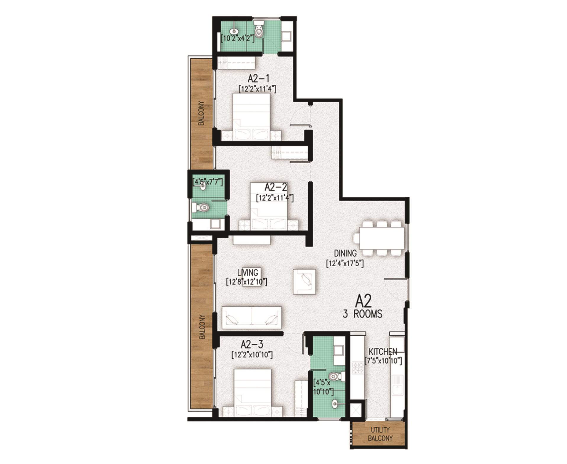 Floor Key Plan A2