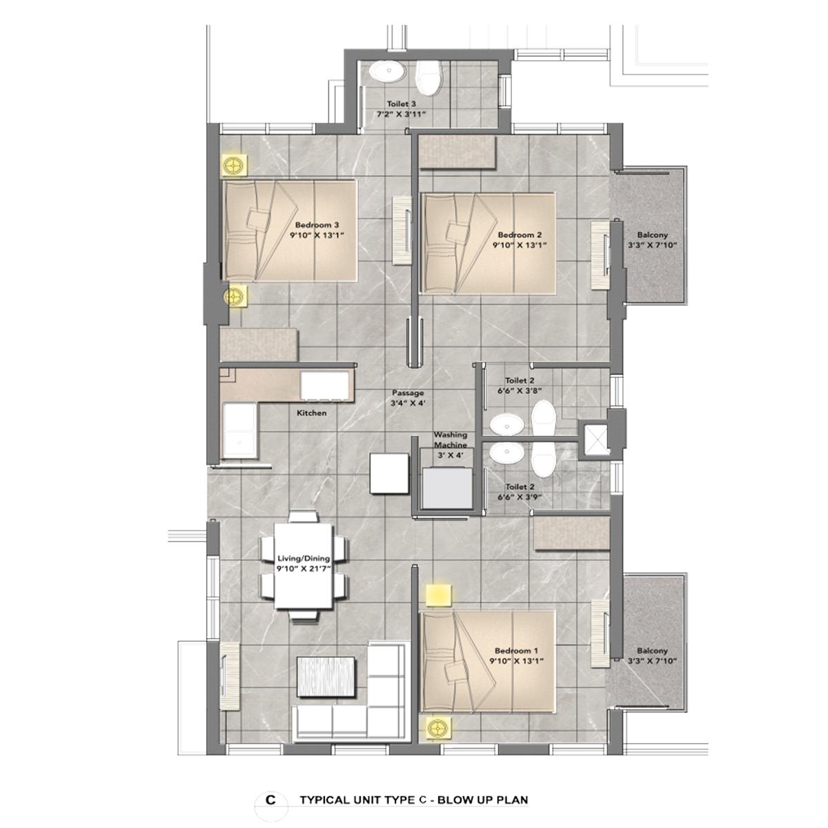 One Central Park Apartment Type (C)
